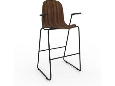 Barhocker in Nussbaum 49 x 113 x 62 cm einzigartiges Design, konfigurierbar