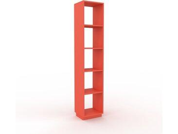 Bücherregal Rot - Modernes Regal für Bücher: Hochwertige Qualität, einzigartiges Design - 41 x 200 x 35 cm, Individuell konfigurierbar