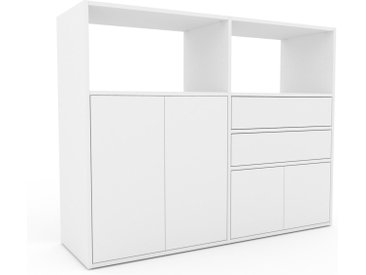 Highboard Weiß - Highboard: Schubladen in Weiß & Türen in Weiß - Hochwertige Materialien - 152 x 118 x 47 cm, Selbst designen