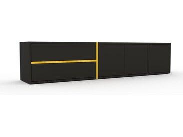 Lowboard Graphitgrau - TV-Board: Schubladen in Graphitgrau & Türen in Graphitgrau - Hochwertige Materialien - 190 x 41 x 35 cm, Komplett anpassbar