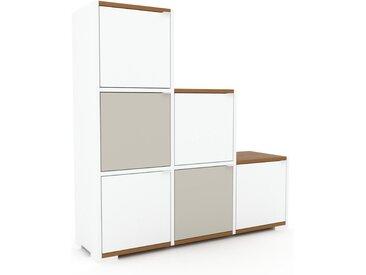 Schrank Weiß - Moderner Schrank: Türen in Weiß - Hochwertige Materialien - 118 x 120 x 35 cm, Selbst zusammenstellen