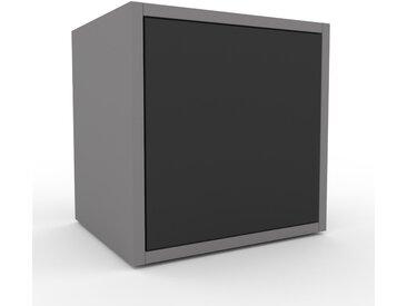 Nachtschrank Graphitgrau - Eleganter Nachtschrank: Türen in Graphitgrau - Hochwertige Materialien - 41 x 41 x 35 cm, konfigurierbar