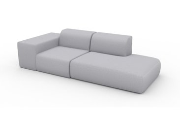 Sofa 2-Sitzer Lichtgrau Feingewebe - Elegantes, gemütliches 2-Sitzer Sofa: Hochwertige Qualität, einzigartiges Design - 257 x 72 x 107 cm, konfigurierbar