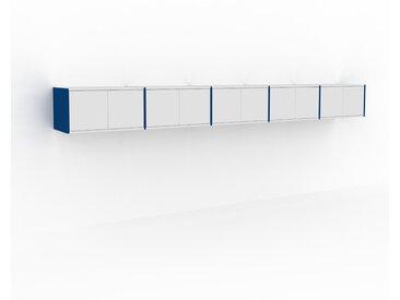 Hängeschrank Weiß - Moderner Wandschrank: Türen in Weiß - 375 x 41 x 47 cm, konfigurierbar