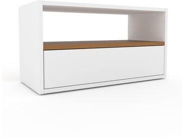 TV-Schrank Weiß - Moderner Fernsehschrank: Schubladen in Weiß - 77 x 41 x 35 cm, konfigurierbar