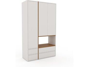 Schrank Weiß - Moderner Schrank: Schubladen in Weiß & Türen in Weiß - Hochwertige Materialien - 116 x 195 x 47 cm, konfigurierbar
