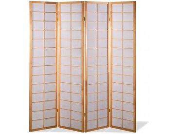 Paravent Japan Traditional Natur 4 teilig
