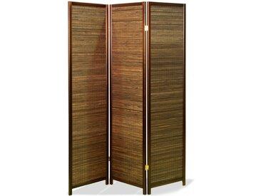 Paravent Nagisa Bamboo Walnuss 3 teilig