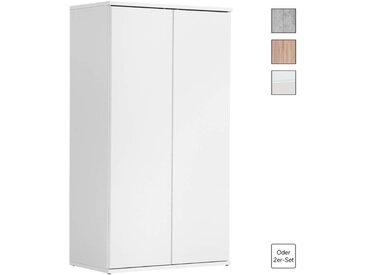 Mehrzweckschrank 'Der Schlanke' Höhe 110cm, auch als Aktenschrank & Schrank, in Weiß, Weiß -11