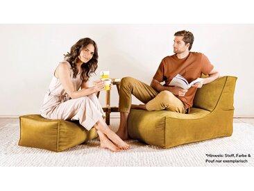 Sitzsack 'Der Sundowner' mit Hocker, auch als Indoor & Outdoor Bean Bag, Liege oder Relaxliege