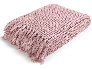 mokebo® Decke 'Die Hyggelige' mit Waffelpique im Stonewashed Look, Strickdecke, Tagesdecke & Kuscheldecke | Decke in 130/170(B/H in cm)