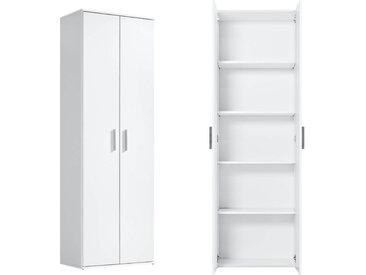 Mehrzweckschrank 'Der Lange' Höhe 180cm, auch als Aktenschrank & Schrank, in Weiß, Weiß -11