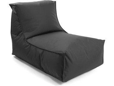 Outdoor Sitzsack 'Der Sundowner', Bean Bag, Liege & leichte Relaxliege, Made in Schwarzwald, Outdoorstoff in Anthrazit 007