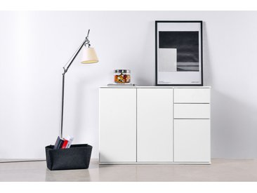 Sideboard & Kommode 'Die Elegante' mit Schubladen & Türen, 117x81x34 cm (B/H/T), Weiß