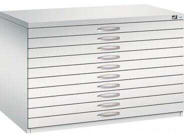 Planschrank DIN A1 - 10 Schubladen Lichtgrau (RAL 7035)