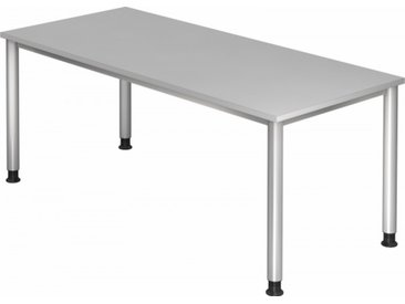 Schreibtisch höhenverstellbar Grau Rechteck: 180 x 80 cm