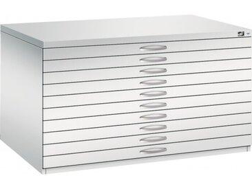 Planschrank DIN A0 - 10 Schubladen Lichtgrau (RAL 7035)