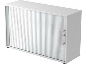Rollladenschrank Weiß/Silber Chromgriff