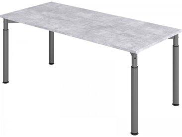 Schreibtisch höhenverstellbar Beton Rechteck: 180 x 80 cm Graphit