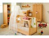 Luca Babybett 70x140 cm mit Aufhängung für Betthimmel, Erle