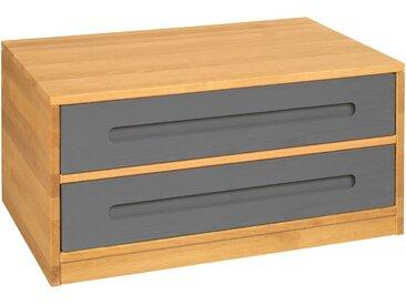Lina Bettkommode mit 2 Schubladen, Erle  80 cm