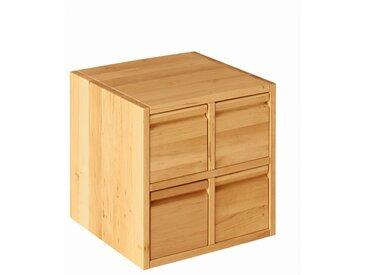 Spar-Set Laura Regalwürfel Office 40x40 cm mit vier Schubladen, Erle