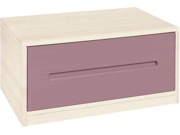 Lina Bettkommode mit Schublade, Kiefer weiß lasiert 80 cm