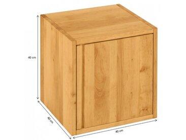 Laura Regalwürfel 40x40 cm mit Tür, Erle