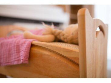 Puppenwiege und Bänkchen Erle