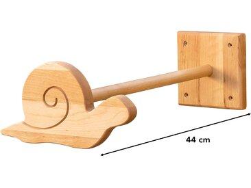 Betthimmel-Halter Schnecke 44 cm aus Bio-Massivholz, Kiefer grau