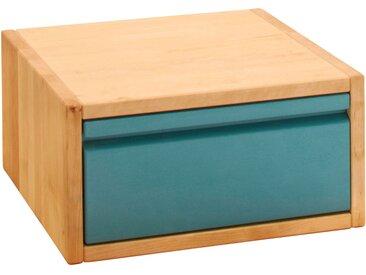 Laura Würfel mit Schublade 20x40 cm, Kiefer blau