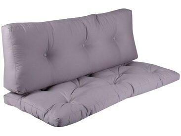 Set Sitzkissen mit Rückenlehne 120x55 cm