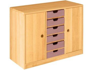 Set Robin Ordnungsregal breit mit Türen und Schubladen Höhe 64 cm, Breite 86 cm