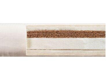 Komplett-Set Kai Stapelbett 70x140 cm, Kiefer weiß mit Roll-Lattenrost und bionik Matratze