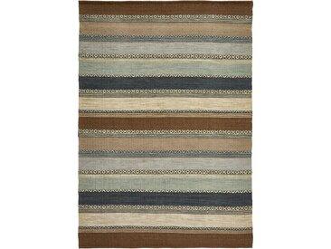 Kelim-Teppich mit Streifen in sanften Naturtönen braun bonprix