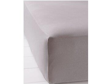 Elastic-Jersey Spannbettlaken grau bonprix