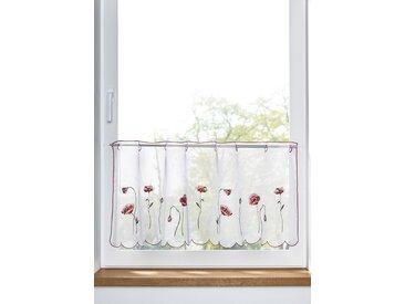 Scheibengardine mit Blumenstickerei weiß bonprix