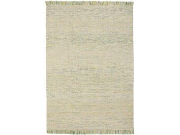 Kelim-Teppich mit bunten Fransen grün bonprix
