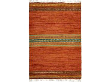 Kelim-Teppich mit Fransen orange bonprix
