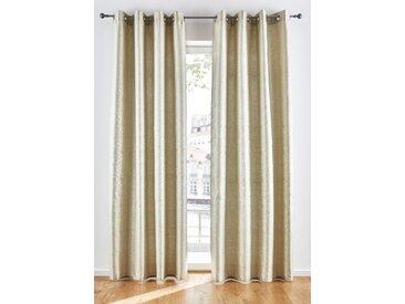 Jacquard Vorhang mit Glanzeffekt (1er Pack) beige bonprix