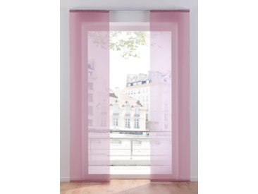 Schiebegardine Uni Voile (1er-Pack) rosa bonprix