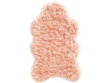 Synthetik Lammfell mit besonders dichtem Flor rosa bonprix