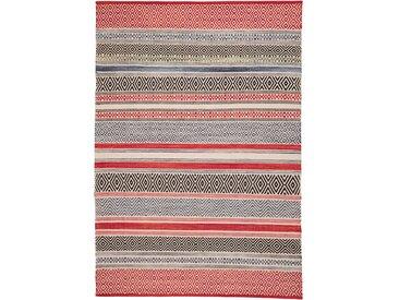 Kelim-Teppich mit Streifen rot bonprix