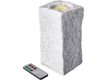 LED-Wachs-Zimmerbrunnen grau bonprix