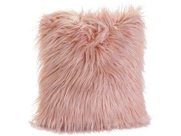 Kissenbezug mit Synthetik-Fell rosa bonprix
