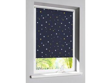 Verdunkelungsrollo mit Sternen Druck blau bonprix