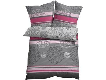 Bettwäsche mit Kreisen pink bonprix