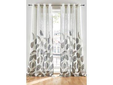 Vorhang mit Blätter Druck (1er Pack) weiß bonprix