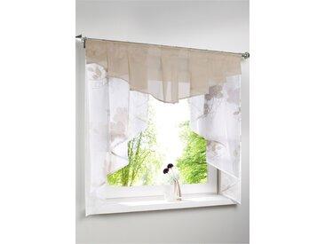 Transparentes Kleinfenster mit Blumen Druck beige bonprix