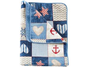 Tagesdecke mit maritimen Design blau bonprix